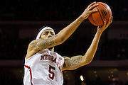 January 9, 2014: Terran Petteway (5) of the Nebraska Cornhuskers with a lay up against the Michigan Wolverines at the Pinnacle Bank Arena, Lincoln, NE. Michigan defeated Nebraska 71 to 70.