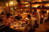 People enjoy their meals at La Vitrola, a popular restaurant in Cartagena's old city, on Thursday, August 21, 2008. (Photo/Scott Dalton)