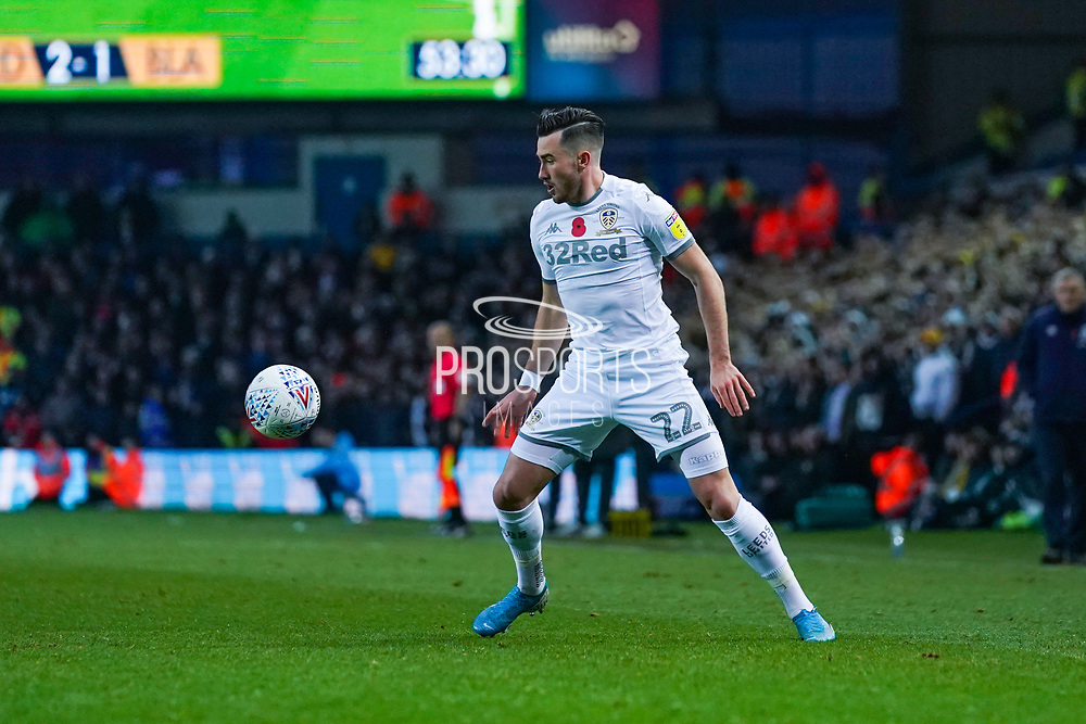 Leeds United midfielder Jack Harrison (22) in action during the EFL Sky Bet Championship match between Leeds United and Blackburn Rovers at Elland Road, Leeds, England on 9 November 2019.