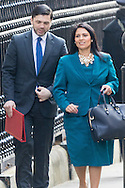 Newly appointed Work and Pensions Secretary Stephen Crabb arrives with Employment Minister Priti Patel for Cabinet at Downing Street, London<br /> Picture by Paul Davey/Focus Images Ltd +447966 016296<br /> 16/03/2016