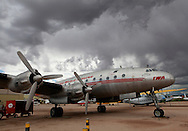 TWA Constellation at the Pima Air and Space Museum in Tuscon, Arizona.<br /> <br /> Photo by Dennis Brack
