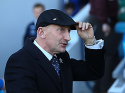 Millwall Manager, Ian Holloway looks good in his new hat - Photo mandatory by-line: Robin White/JMP - Tel: Mobile: 07966 386802 29/03/2014 - SPORT - FOOTBALL - The Den - Millwall - Millwall v Blackburn Rovers - Sky Bet Championship