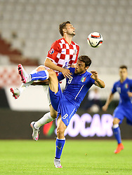 12.06.2015, Stadion Poljud, Split, CRO, UEFA Euro 2016 Qualifikation, Kroatien vs Italien, Gruppe H, im Bild Marcelo Brozovic, Claudio Marchisio // during the UEFA EURO 2016 qualifier group H match between Croatia and and Italy at the Stadion Poljud in Split, Croatia on 2015/06/12. EXPA Pictures © 2015, PhotoCredit: EXPA/ Pixsell/ Slavko Midzor<br /> <br /> *****ATTENTION - for AUT, SLO, SUI, SWE, ITA, FRA only*****