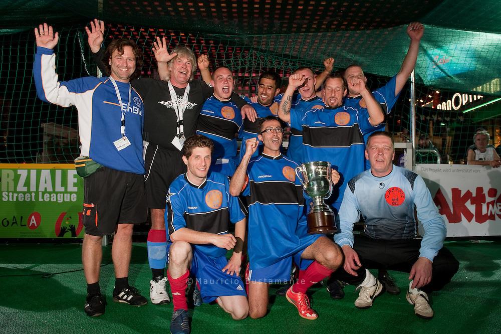 5. Deutschen Meisterschaften im Straßenfußball der Wohnungslosen in Hamburg.