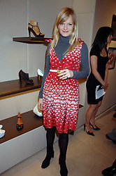 ALEXIA INGE at a party at shoe store Sergio Rossi, 207 Sloane Street, London on 4th April 2007.<br />
