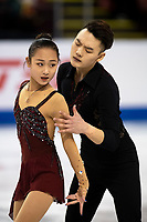KELOWNA, BC - OCTOBER 25: Chinese figure skaters Feiyao Tang and Yongchao Yang compete in the pairs short program of Skate Canada International held at Prospera Place on October 25, 2019 in Kelowna, Canada. (Photo by Marissa Baecker/Shoot the Breeze)