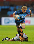 PRETORIA, South Africa, 14 May 2011. Dewald Potgieter of the Bulls gets across the advantage line during the Super15 Rugby match between the Bulls and the Melbourne Rebels at Loftus Versfeld in Pretoria, South Africa on 14 May 2011..Photographer : Anton de Villiers / SPORTZPICS