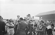 Celebrating Derry winning team carried off the pitch after the All Ireland Minor Gaelic Football Final Kerry v. Derry in Croke Park on the 26th September 1965.