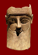 Phoenecian Head of a male with beard from about 600-500 BC. Found at the sanctuary of Salamis- Toumpa, in Cyprus in 1890.