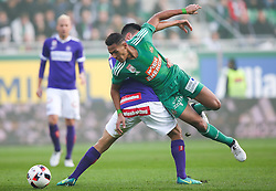 23.10.2016, Allianz Stadion, Wien, AUT, 1. FBL, SK Rapid Wien vs FK Austria Wien, 12 Runde, im Bild Tarkan Serbest (FK Austria Wien) und Joelinton Cassio Apolinario de Lira (SK Rapid Wien) // during Austrian Football Bundesliga Match, 12th Round, between SK Rapid Vienna and FK Austria Wien at the Allianz Stadion, Vienna, Austria on 2016/10/23. EXPA Pictures © 2016, PhotoCredit: EXPA/ Thomas Haumer
