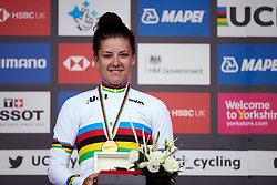 World Champion, Chloe Dygert (USA) at UCI Road World Championships 2019 Elite Women's TT a 30.3 km individual time trial from Ripon to Harrogate, United Kingdom on September 24, 2019. Photo by Sean Robinson/velofocus.com