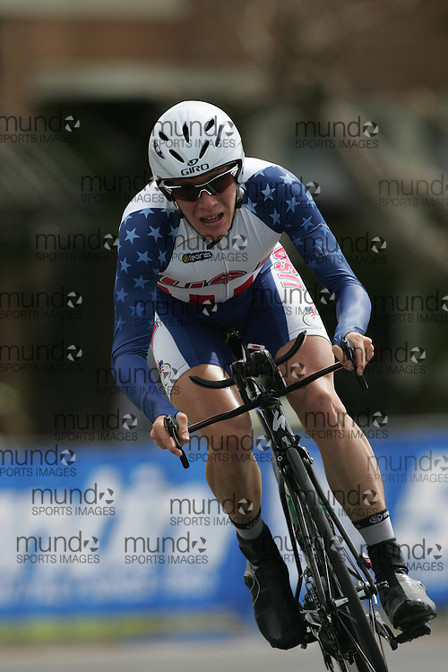 (Geelong, Australia---29 September 2010) Andrew TALANSKY (USA) racing to 15th place in the 2010 UCI Road World Championships Under 23 Time Trial in Geelong, Victoria, Australia. [2010 Copyright Sean Burges / Mundo Sport Images -- www.mundosportimages.com]