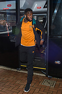 Adama Diomande of Hull City arrives at Ewood Park, Blackburn ahead of during the FA Cup match between Blackburn Rovers and Hull City<br /> Picture by Matt Wilkinson/Focus Images Ltd 07814 960751<br /> 06/01/2018
