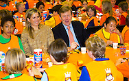 Leiden, 23-04-2015 <br /> <br /> King Willem-Alexander and Queen Maxima attended the Kings Games in Leiden.<br /> <br /> Photo:Royalportraits Europe/Bernard Ruebsamen