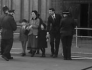 RODOLPH VON HOFMANNSTHAL, LADY FRANCES VON HOFMANNSTHAL; ANTONY; DOLORES,, Service of thanksgiving for  Lord Snowdon, St. Margaret's Westminster. London. 7 April 2017