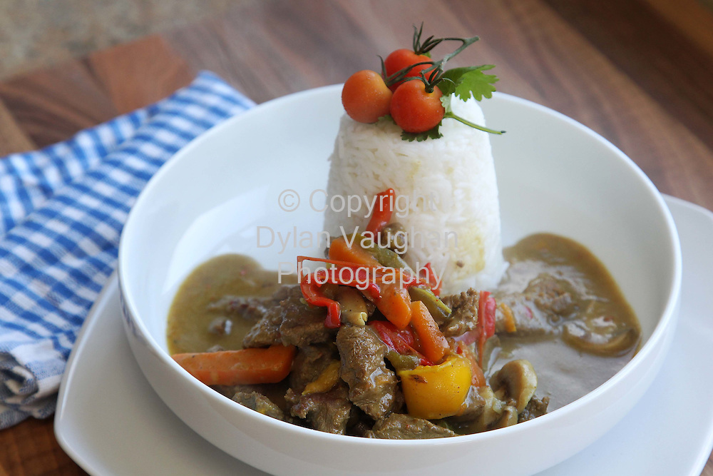 16/9/2010.Chef Edward Hayden food.Week 3.Hot and Spicy Beef Curry..Collect Picture Dylan Vaughan..