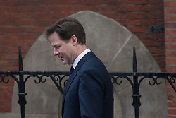 © licensed to London News Pictures. London, UK 13/06/2012. Nick Clegg leaving Leveson inquiry, this morning (13/06/12). Photo credit: Tolga Akmen/LNP