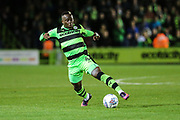 Forest Green Rovers Drissa Traoré(4) controls the ball during the EFL Sky Bet League 2 match between Forest Green Rovers and Swindon Town at the New Lawn, Forest Green, United Kingdom on 22 September 2017. Photo by Shane Healey.