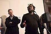 SIR NICHOLAS SEROTA, DAVID A. BAILEY,, Diaspora Pavilion LAUNCH  Palazzo Pisani and Santa Marina. Venice Biennale, 11 May 2017