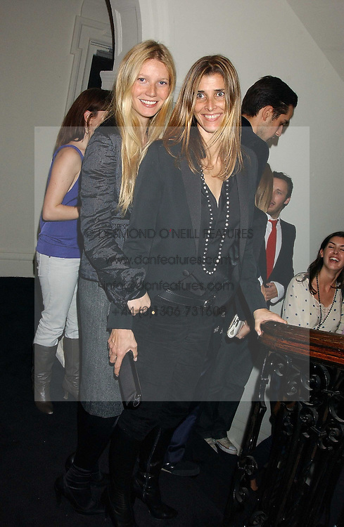 Left to right, actress GWYNETH PALTROW and PRINCESS KYRIL OF BULGARIA at a party to celebrate the Stella McCartney's unique collaboration with fashion store H&M at St.Olavs, Tooley Street, London SE1 on 25th October 2005.<br /><br />NON EXCLUSIVE - WORLD RIGHTS