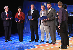 Lojze Mikolic, Lucija Polavder, Miha Potocnik, Trevor Millar and Vladimir Kevo at  Slovenian sportsman of the year 2008 ceremony, on December 22, 2008, in Cankarjev dom, Ljubljana, Slovenia. (Photo by Vid Ponikvar / SportIda).