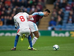 Dwight McNeil of Burnley and Cheikhou Kouyate of Crystal Palace in action - Mandatory by-line: Jack Phillips/JMP - 02/03/2019 - FOOTBALL - Turf Moor - Burnley, England - Burnley v Crystal Palace - English Premier League