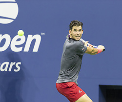 September 4, 2018 - New York, New York, United States - Dominic Thiem of Austria returns ball during US Open 2018 quarterfinal match against Rafael Nadal of Spain at USTA Billie Jean King National Tennis Center (Credit Image: © Lev Radin/Pacific Press via ZUMA Wire)