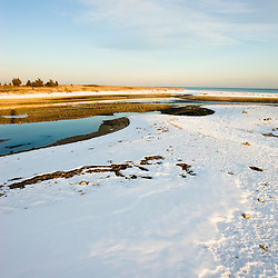 Winter on Cape Cod Bay at the Shifting Lots Preserve in Plymouth, Massachusetts.  Wildlands Trust of Southeastern Massachusetts.