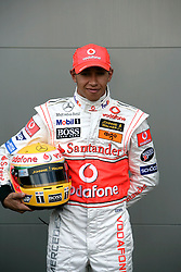 Melbourne. Australia - Thursday, March 15, 2007: Lewis Hamilton (GBR, Vodafone McLaren Mercedes) at the opening Grand Prix of the Formula One World Championship in Australia.(Pic by Michael Kunkel/Propaganda/Hoch Zwei)