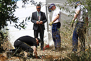 Scotland Yard forensic technicians search drains in Praia da Luz with Andy Redwood  as police continue to look for the  body of Maddie McCann. <br /> ©Exclusivepix