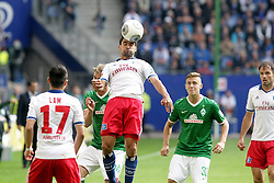 21.09.2013, Imtech Arena, Hamburg, GER, 1. FBL, Hamburger SV vs SV Werder Bremen, 6. Runde, im Bild Tomas Rincon (HSV), Sportler DFB Sport Deutschland Fussball Hamburger Sport Verein // during the German Bundesliga 6th round match between Hamburger SV and SV Werder Bremen at the Imtech Arena, Hamburg, Germany on 2013/09/21. EXPA Pictures © 2013, PhotoCredit: EXPA/ Eibner/ Andre Latendorf<br /> <br /> ***** ATTENTION - OUT OF GER *****
