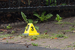 "© Licensed to London News Pictures. 27/07/2015. Salford, UK. Scene at the home of Paul Massey on Manchester Road , Clifton , Salford where Paul Massey - known as Salford's ""Mr Big"" was shot dead last night (26th July 2015 ) . Photo credit: Joel Goodman/LNP"