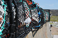 lobster pots on Inis Mor Aran Islands County Galway Ireland