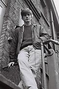 Boy on fire escape, Ealing, UK, 1985