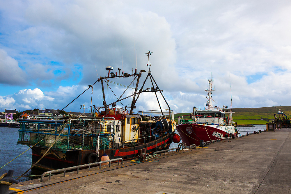 Fishing vessels in Dingle, Kerry, Ireland