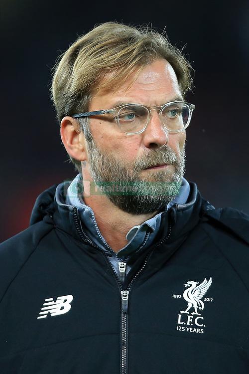 1st November 2017 - UEFA Champions League - Group E - Liverpool v NK Maribor - Liverpool manager Jurgen Klopp - Photo: Simon Stacpoole / Offside.
