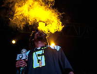 "Snoop Dogg aka Snoop Lion performs on August 27, 2013 during his ""Reincarnated"" tour at the Roseland Theater in Portland, Oregon"