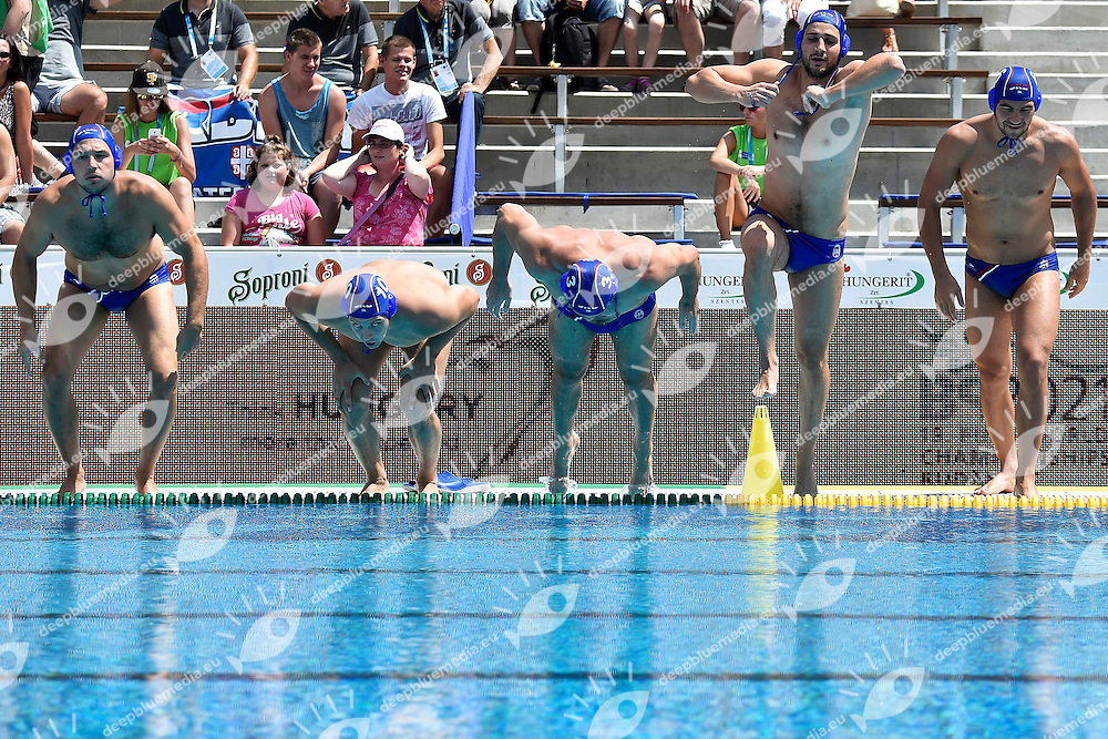 Serbia <br /> Germany - Serbia <br /> LEN European Water Polo Championships 2014<br /> Alfred Hajos -Tamas Szechy Swimming Complex<br /> Margitsziget - Margaret Island<br /> Day02 - July 15 <br /> Photo A.Staccioli/Insidefoto/Deepbluemedia