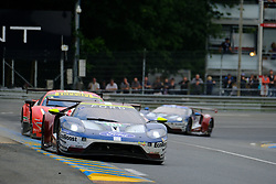 June 17, 2018 - Le Mans, Sarthe, France - Ford Chip Ganassi TEAM USA FORD GT Driver RICHARD WESTBROOK (GBR) in action during the 86th edition of the 24 hours of Le Mans 2nd round of the FIA World Endurance Championship at the Sarthe circuit at Le Mans - France (Credit Image: © Pierre Stevenin via ZUMA Wire)