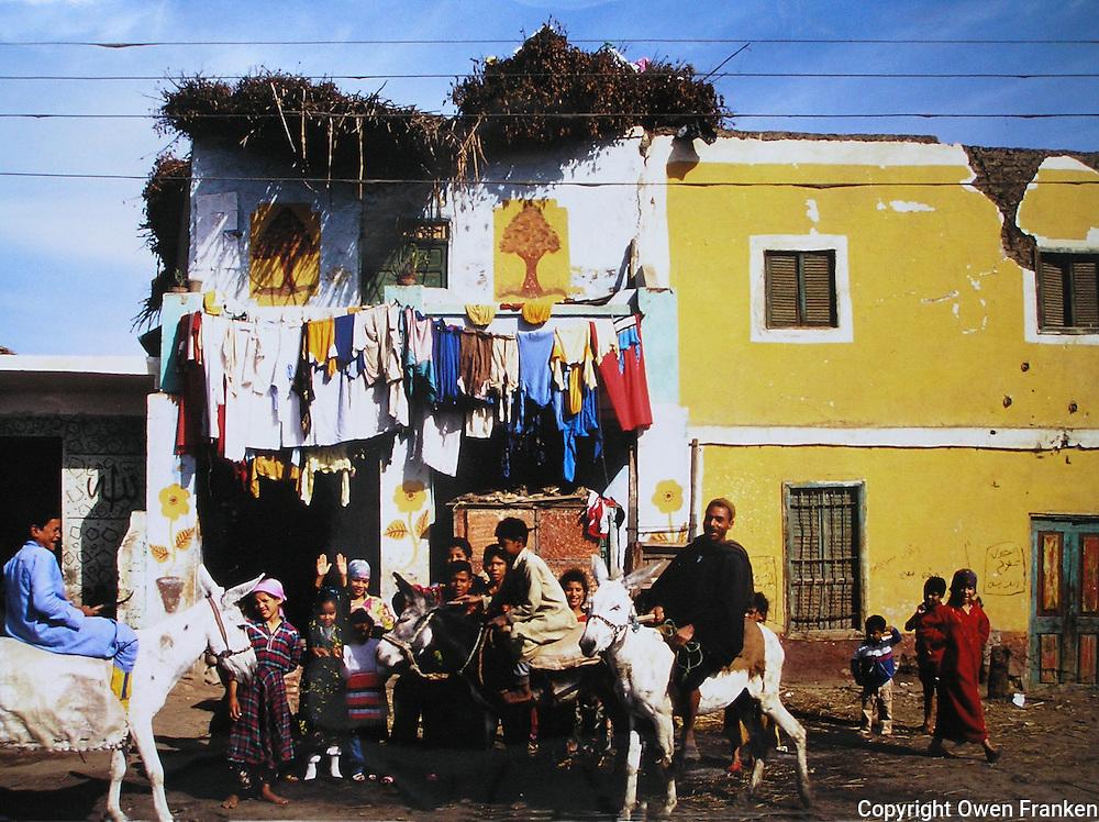 In an Egyptian Village - Village portrait - Photograph by Owen Franken