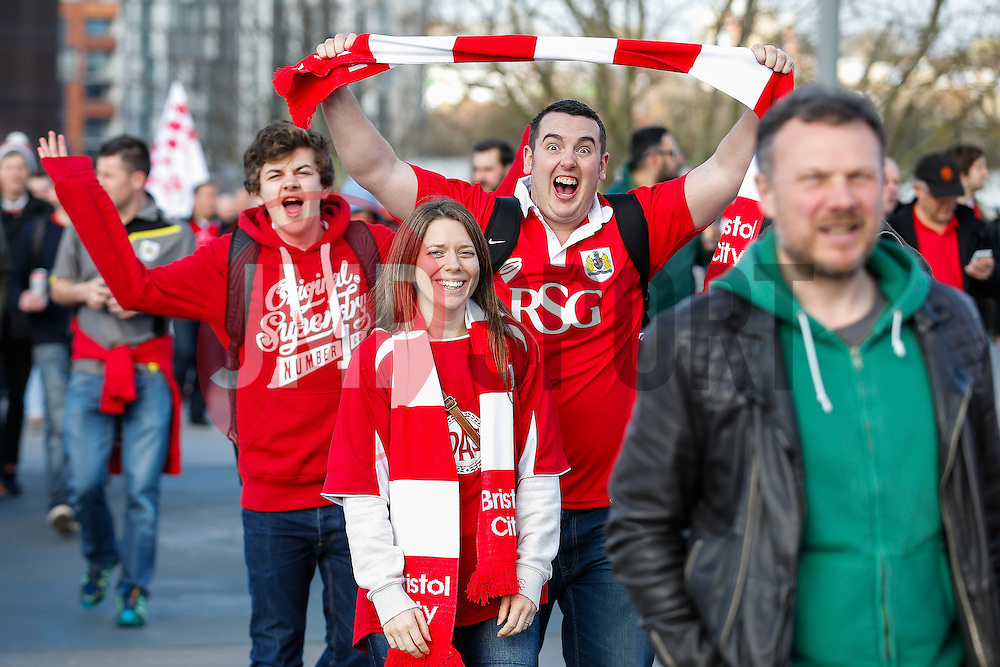 - Photo mandatory by-line: Rogan Thomson/JMP - 07966 386802 - 22/03/2015 - SPORT - FOOTBALL - London, England - Wembley Stadium - Bristol City v Walsall - Johnstone's Paint Trophy Final.