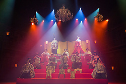 © Licensed to London News Pictures. 21/05/2015. London, UK. Pictured: Hinamatsuri - The Play within the Play. The Ninagawa Company returns to the Barbican and perform Hamlet by Shakespeare under the direction of Yukio Ninagawa. With Tatsuya Fujiwara as Hamlet. Performances in Japanese with English surtitles from 21 to 24 May 2015. Photo credit : Bettina Strenske/LNP
