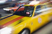 Japan Tokyo street traffic motion blur