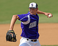Kansas State pitcher Ben Hornbeck pitched 2 1/3rd innings, giving up two runs on four hits against Kansas.  The Wildcats held on to beat Kansas 5-4 at Tointon Stadium in Manhattan, Kansas, April 23, 2006.