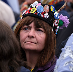 Independence Rally, Glasgow, Saturday 2nd November 2019<br /> <br /> Pictured: A woman in the crowd<br /> <br /> Alex Todd | Edinburgh Elite media