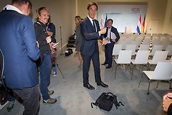 July 8, 2017 - Hamburg, Germany - Dutch PM Mark Rutte is seen at a press conference on the final day of the G20 summit in Hamburg, Germany on 8 July, 2017. The prime minister in a television interview stated he has talked with Russian president Vladimir Putin about the MH17 plane crash in which 298 passengers were killed, a precarious issue between the two countries. (Credit Image: © Jaap Arriens/NurPhoto via ZUMA Press)