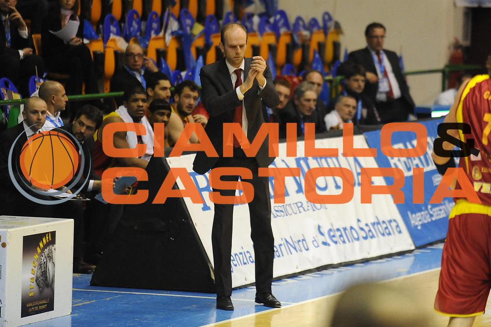 DESCRIZIONE : Sassari Lega A2 2009-10 Final Four Coppa Italia Semifinale Trenkwalder Reggio Emilia Prima Veroli<br /> GIOCATORE :  Massimo Cancellieri Coach<br /> SQUADRA : Trenkwalder Reggio Emilia Prima Veroli<br /> EVENTO : Campionato Lega A2 2009-2010<br /> GARA : Trenkwalder Reggio Emilia Prima Veroli<br /> DATA : 06/03/2010<br /> CATEGORIA : Ritratto<br /> SPORT : Pallacanestro<br /> AUTORE : Agenzia Ciamillo-Castoria/GiulioCiamillo<br /> Galleria : Lega Basket A2 2009-2010  <br /> Fotonotizia : Sassari Lega A2 2009-2010 Final Four Coppa Italia Semifinale Trenkwalder Reggio Emilia Prima Veroli<br /> Predefinita :