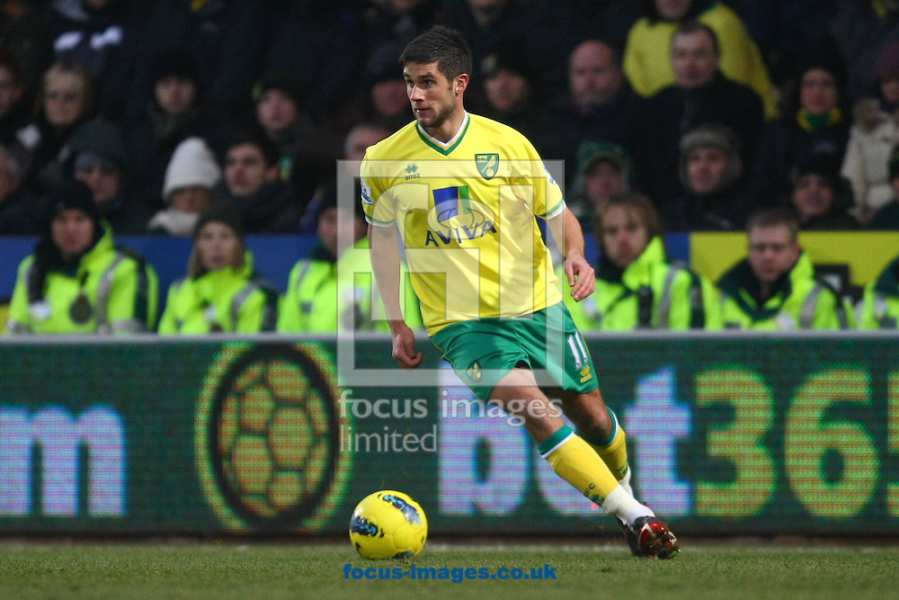 Picture by Paul Chesterton/Focus Images Ltd.  07904 640267.Andrew Surman of Norwich in action during the Barclays Premier League match at Carrow Road stadium, Norwich.