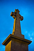 Celtic cross monument icon in Clifden, Connemara, County Galway, Ireland