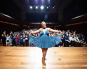 West End Stage celebrates its milestone 10,000th student<br /> with a special visit from Marisha Wallace<br /> star of multi-award winning West End musical Dreamgirls <br /> at Guildhall School of Music, London, Great Britain <br /> 17th August 2018 <br /> <br /> Marisha Wallace who plays <br /> the role of Effie White in Dreamgirls <br /> <br /> <br /> In summer 2006, West End Stage began in a bid to become the UK&rsquo;s leading theatre summer school.&nbsp;Its aim was, and still is, to ignite a global passion for theatre, uniting young people from all over the world. Throughout the week-long course led by West End stars,&nbsp;the students&nbsp; take part in in an exciting mix of drama, singing and dance classes, as well as enjoying an inspirational trip to a West End musical. The highlight of every student&rsquo;s week is the chance to make their own West End debut at Her Majesty&rsquo;s Theatre, the world-famous home of The Phantom of the Opera, in front of a huge audience of family, friends and industry professionals.<br /> <br /> Mark Puddle, Founder and Chief Executive of West End Stage, said &ldquo;I am absolutely delighted that Marisha could join us direct from the West End to celebrate the 10,000 students who have enjoyed once-in-a-lifetime opportunities at the summer school, making friends for life along the way. The course is going from strength to strength, thanks to the hard work and passion of our teachers, staff and supporters who work tirelessly to ensure a safe and exciting experience.&rdquo;<br /> <br /> Photograph by Elliott Franks